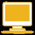 ícone monitor amarelo